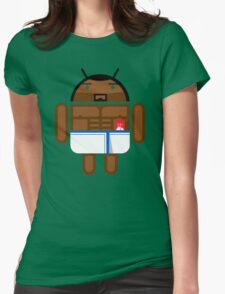Old Spice Guy BugDroid Womens Fitted T-Shirt