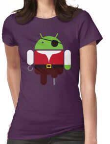 Pirate BugDroid Womens Fitted T-Shirt