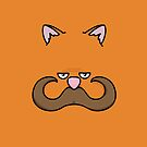 Moustache Cat all over your iPhone by Sean Rice