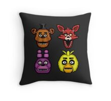Five Nights at Freddy's 1 - Pixel art - The Classic 4 Throw Pillow