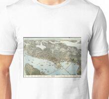 Vintage Pictorial Map of Seattle Washington (1891)  Unisex T-Shirt