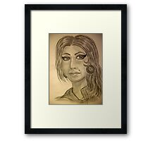My Version of Amy Winehouse Framed Print