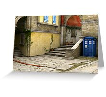Tardis-Mediterranean-02 Greeting Card