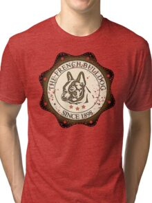 Vintage French Bulldog Tri-blend T-Shirt