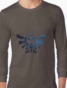 Zelda triforce damaged Long Sleeve T-Shirt