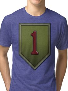 The Big Red One Insignia Tri-blend T-Shirt