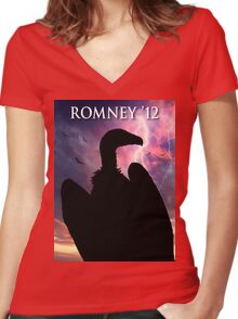 Soar with Mitt Women's Fitted V-Neck T-Shirt