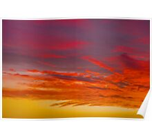 Abstract sunrise in red Poster