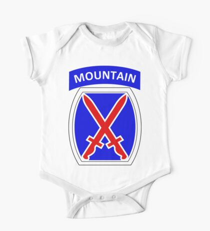 10th Mountain Division Logo One Piece - Short Sleeve