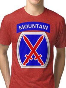 10th Mountain Division Logo Tri-blend T-Shirt