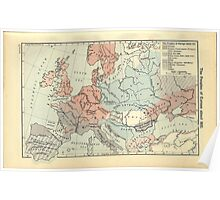 Vintage Map of Europe (1911) Poster