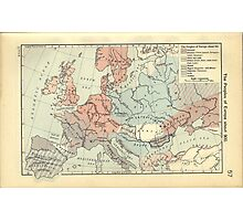 Vintage Map of Europe (1911) Photographic Print
