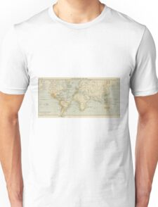 Vintage Map of The World (1911) 2 Unisex T-Shirt