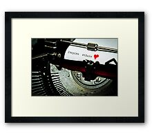 Inspire others Framed Print