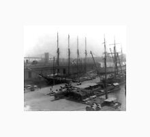Vintage Ships at Dock NYC Photograph (1908) Unisex T-Shirt