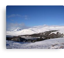 Blue and White of Scotland Canvas Print