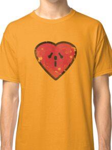 Cute Funny Heart Love Valentine Grunge T-shirt Classic T-Shirt
