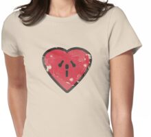 Cute Funny Heart Love Valentine Grunge T-shirt Womens Fitted T-Shirt