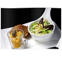 Creamy Morel Soup With Pipette Rigate Poster