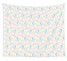 Dishes color pattern Wall Tapestry