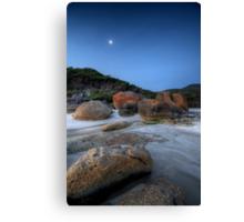 Moon Over Squeaky Beach Canvas Print