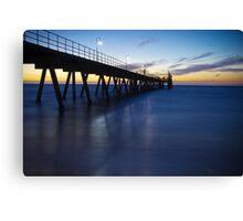 Glenelg Jetty - Sunset/Night Canvas Print