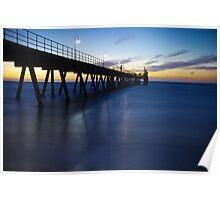 Glenelg Jetty - Sunset/Night Poster