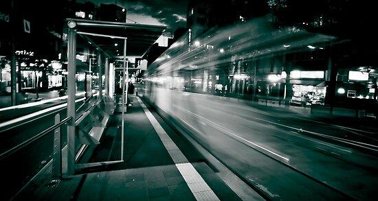 Bourke St. Tram Stop by Paul Louis Villani