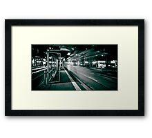 Bourke St. Tram Stop Framed Print
