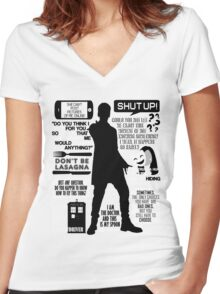 Doctor Who - 12th Doctor Quotes Women's Fitted V-Neck T-Shirt