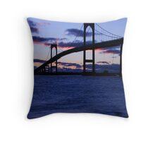 Pell Bridge, Newport RI ~ Sunrise 1.15.12 Throw Pillow