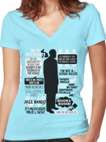 Archer - Dr. Algernop Krieger Quotes Women's Fitted V-Neck T-Shirt