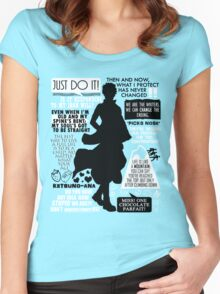 Gintama - Sakata Gintoki Quotes Women's Fitted Scoop T-Shirt