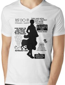 Gintama - Sakata Gintoki Quotes Mens V-Neck T-Shirt