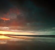 Sun vs Storm seascape by Chris Simmons