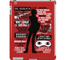 Gintama - Okita Sougo Quotes iPad Case/Skin