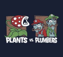 Plants Vs Plumbers Kids Clothes