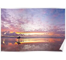Angel of Cornwall seascape Poster