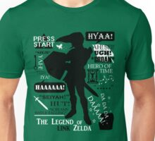 "Legend of Zelda - Link ""Quotes"" Unisex T-Shirt"