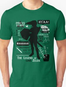 "Legend of Zelda - Link ""Quotes"" T-Shirt"