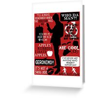 Doctor Who - 11th Doctor Quotes Greeting Card