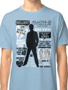 Doctor Who - 10th Doctor Quotes Classic T-Shirt