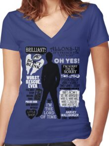 Doctor Who - 10th Doctor Quotes Women's Fitted V-Neck T-Shirt