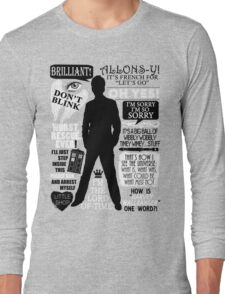 Doctor Who - 10th Doctor Quotes Long Sleeve T-Shirt