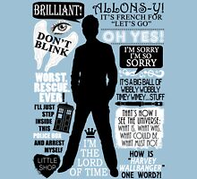 Doctor Who - 10th Doctor Quotes T-Shirt