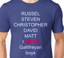 I love gallifreyan boys Unisex T-Shirt