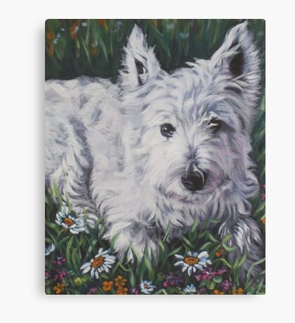West Highland Terrier Fine Art Painting Canvas Print