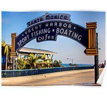 Santa Monica Pier Sign. Series. 1 of 5 Poster