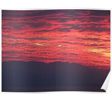 Sunset with Mountains - Puesta del Sol con La Sierra Madre Poster