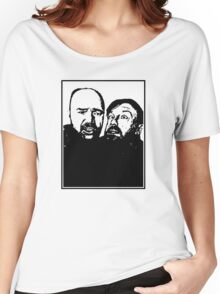 Karl Pilkington and Ricky Gervais Women's Relaxed Fit T-Shirt